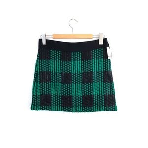 SOLD NWT Milly Clover Green Black Geometric Skirt
